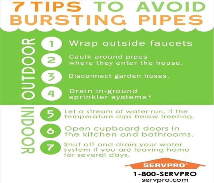 Avoid Busting Pipes Servpro Of Lexington Amp Servpro Of