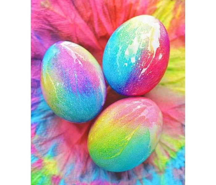 Community Tie Dye Easter Eggs