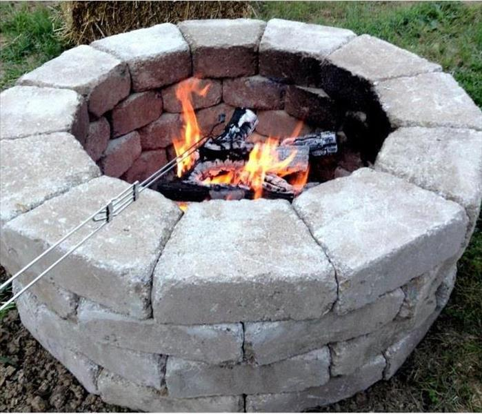 Fire Pit Burning